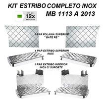 Kit Completo Estribo Cromado Caminhão Mb 1113 1313 1513 2013