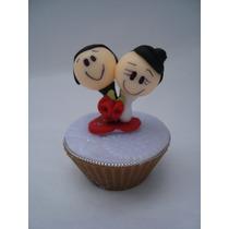 10 Sabonetes Mini Cupcake Noivinhos P Lembrancinha Casamento
