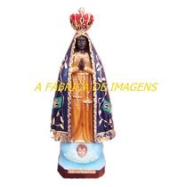 Escultura Nossa Senhora Aparecida Imagem 20cm A Fabrica Ml