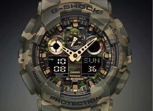 0cbe11db841 Relogio Casio G-shock Ga-100cm-5a Camuflado Ga-110  6go7 - R  628