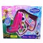Kit Estojo Sapato Princesa Maquiagem Infantil Disney Frozen