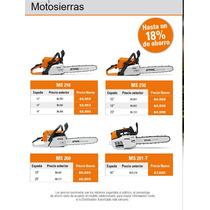 Motosierra Stihl Ms 210 Y Más Promoción De Septiembre