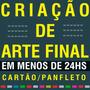 Criação De Arte Final Flyer Cartão Banner Folder Panfleto