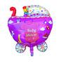 Kit 4 Balões Metalizados Carrinho De Bebê - Grande Lindo!