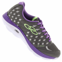 Zapatillas Olympikus Modelo Running Fitness Flix Gris/violet