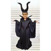 Disfraz Malefica Disfraces Vestido Cuerno Halloween Alas