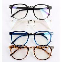 Armação Óculos De Grau - Wayfarer Grande Geek Retrô Preto