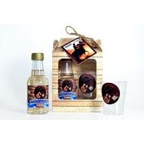 Mini Vinho + Taça + Tag + Caixinha 50 Kits