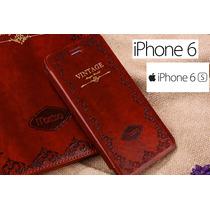 Funda Vintage Mosso Iphone 6 6s Con Labrados Frontales
