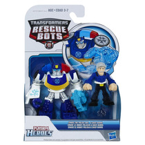 A0672 Transformes Rescue Bots Chase Police E Chefe Burns...