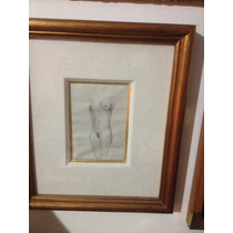 Pintura A Lápiz Desnudó De A.g. Nuñez