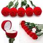 Estuches Para Sortijas Aros Novedosos Rosas Flores Formas