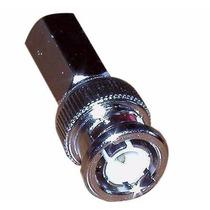Conector Bnc Enroscable Para Cable Coaxial Rg59 Rg6 Cctv