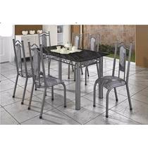 Conjunto Mesa Jantar Cozinha 4 Cadeiras Grecia - Metalmix