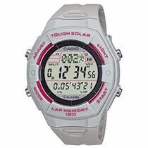 Relógio Casio Feminino 5 Alarmes, Lap Hora Mundi Lws200h8adf