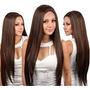 Janet Collection Synthetic Lace Front&rear Wig Black Pearl