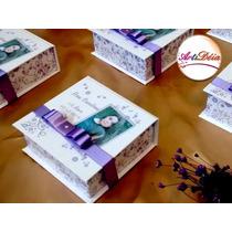 Caixa Convite Box 15 Anos, Com Foto Lembrança - 12x S/ Juros