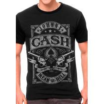 Camiseta Johnny Cash Blusa Moletom Regata Banda Rock Country