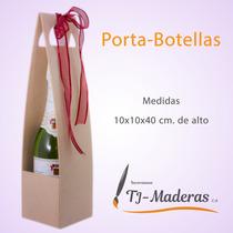 Portabotellas En Madera, Mdf Al Crudo Para Pintar Y Decorar.