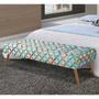 Recamier Tapeçado Comfort Siena Móveis Jacquard Patch Work