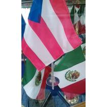 Bandera Mexico Mundo Varios Paises 14x24cms 1 Pieza Sin Asta