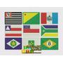 Patch Bordado Bandeira Estados Do Brasil (brasileiro)