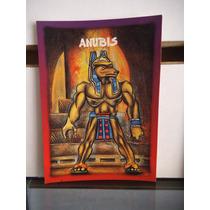 Tarjeta Anubis Monstruos Del Bolsillo Vintage