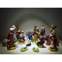 Presépio 14peças 12cm De Resina - Enfeites De Natal, Imagens