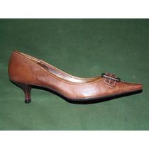 40% Dcto Zapatos De Mujer Via Uno De Cuero N°38- Tb Permuta