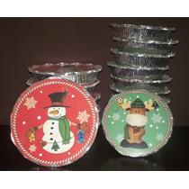 Moldes De Aluminio Desechables De Navidad Quesillera Tortera
