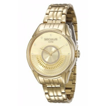 Relógio Seculus Feminino Moderno 28653lpsvda1 2 Anos De G.