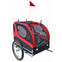 Carro Para Perro Mdog Mk0065a Comfy Pet Bike Trailer - Red/b