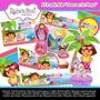 Kit Imprimible Dora La Exploradora En La Playa Tarjeta Cumpl