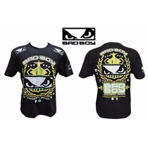 Camiseta Bad Boy Demian Maia Fight Night Preta