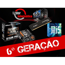 Kit Placa Mãe B150m Core I5 6ºg 6500 3.2 +16gb Ddr4 2400ghz