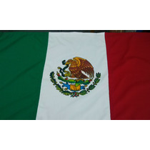 Bandera Mexico Exteriores 2x3.50 Mts Patios Uso Rudo