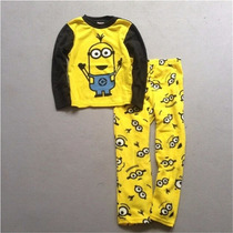 Pijama De Polar Minions Importado - Talle 8 Años