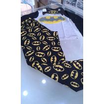 Pijama Adulto Masculino Longo Em Algodão Batman