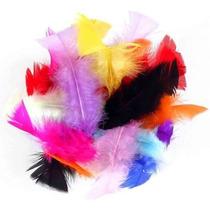 Penas Coloridas Sortidas Pacote Com 100 Penas De 6 A 15 Cm