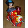 Vint.retro Juguete Antiguo Tren Locomotora Lata Mickey Mouse