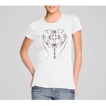 Camisetas Católica Sagrado Coração De Jesus Maria Rcc Louve