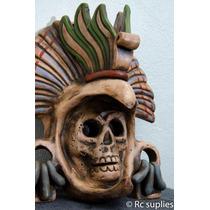 Mascara Barro Prehispánica Guerrero Aguila Artesania Mexican