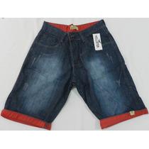 Bermuda Jeans Masculina Barra Colorida Varias Marcas