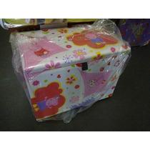 Bau Puff Caixa P/ Brinquedos Roupas Ou Sapatos Peppa Pig