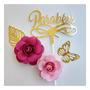 Dourado/ Rosa Medio e Rosa Bb