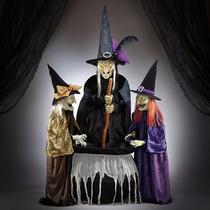 Figura Para Halloween 3 Hermanas Brujas Movimiento Y Sonido
