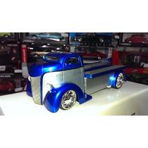 1:24 Ford Coe 1947 Grua De Plataforma Azul Jada Display