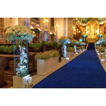 Passadeira Tapete Azul Para Casamento, Festas 10 Metros