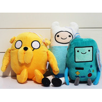 Set 3 Peluches Hora Aventura Finn Jake Bmo Adventure Time