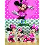 Kit Display Minnie Rosa 8 Peças + Painel 2,00x1,40m